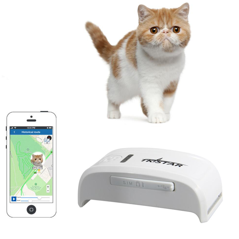 Mini GPS Dog Pet Tracker Device With Google map Free tracking System on mobile phone APP or PC(China (Mainland))