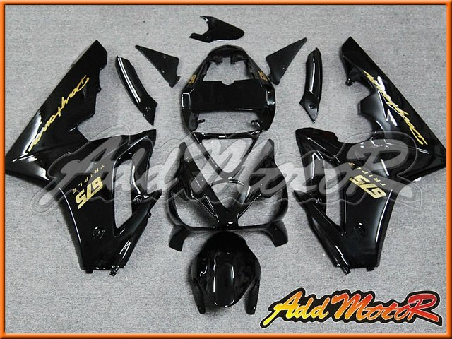 Aftermarket Motorcycle Fairings Kit For Daytona Triumph 675 Black T6710