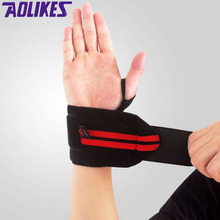 AOLIKES 1 Pair Weightlifting Wristband Sport Professional Training Hand Bands Wrist Support Straps Wraps Guards For Gym Fitness(China (Mainland))