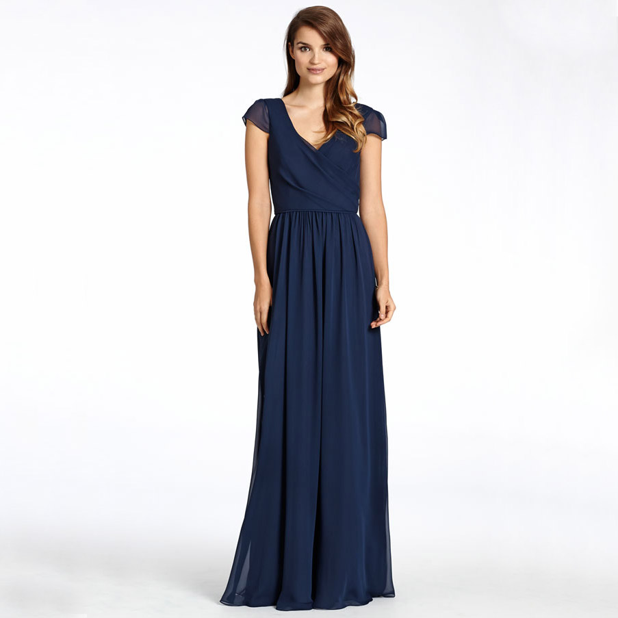 Navy blue bridesmaids picture more detailed picture for Short blue wedding dresses