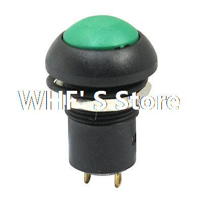 Industrial 12mm DC 36V 2A Self Lock Green Push Button Switch 1NO(China (Mainland))