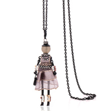 Buy new arrival handmade necklaces women 2017 cute yarn cloth dress doll necklace jewelry stores big chain long choker pendants for $2.95 in AliExpress store