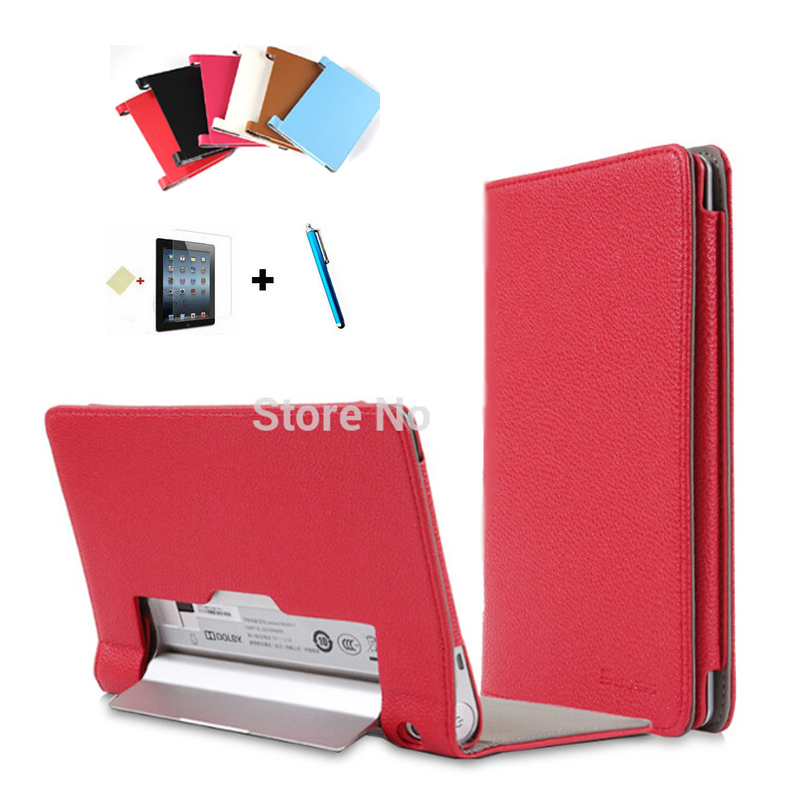 Ultra Thin For Lenovo Yoga Tablet 2 Case 10inch Tablet 1050 1050F Luxury PU Leather Cover Free Shipping(China (Mainland))