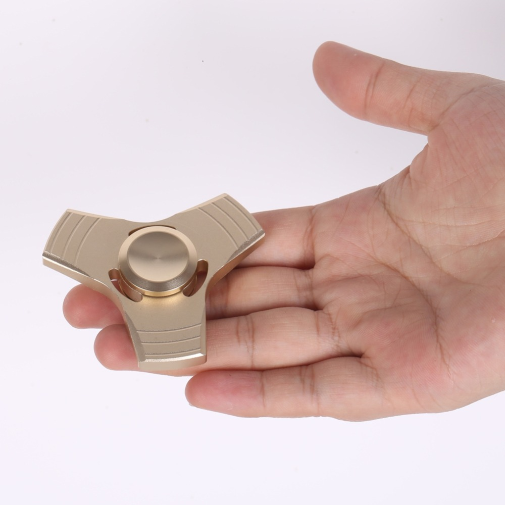 EDC Toys Professional Spinner Fidget Triangle Pattern Hand Spinner Torqbar Brass Hand Spinner and ADHD