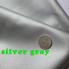 silver gray Small Lychee PU leather, Faux Leather Fabric, PU artificial leather. Upholstery leather,  BY THE YARD, FREE SHIPPING(China (Mainland))