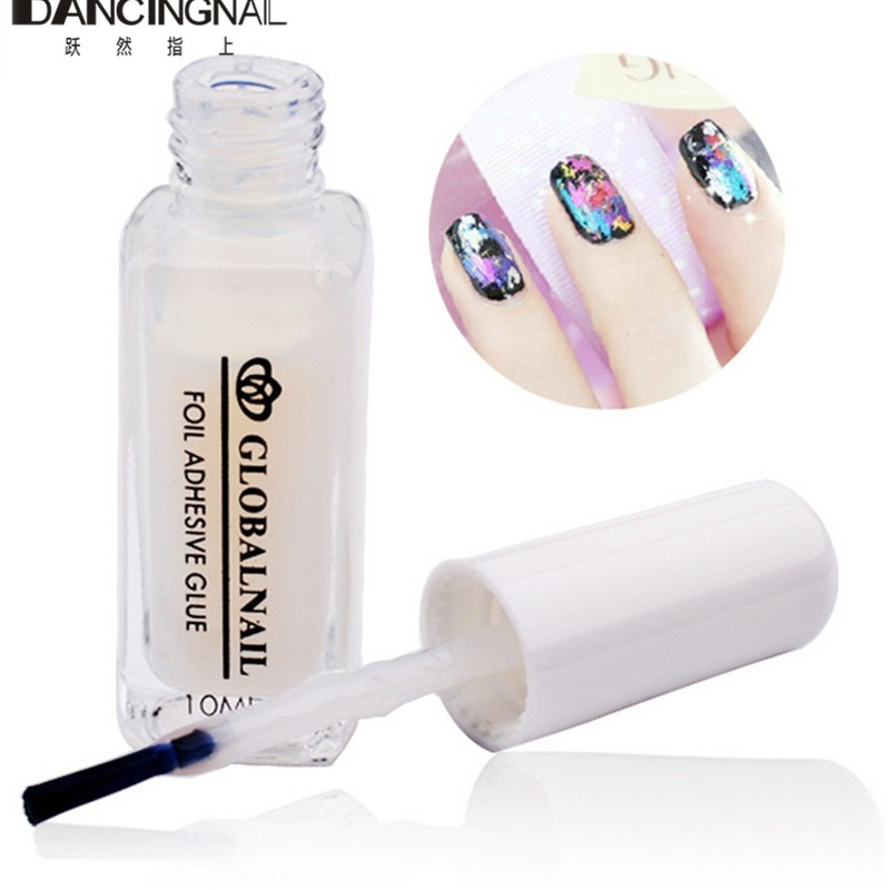 1 Pc Pro Brand New 10ml Nail Art Glue For Adhesive Foil Sticker Decoration For DIY Nails Sticker Star Gel Tools(China (Mainland))