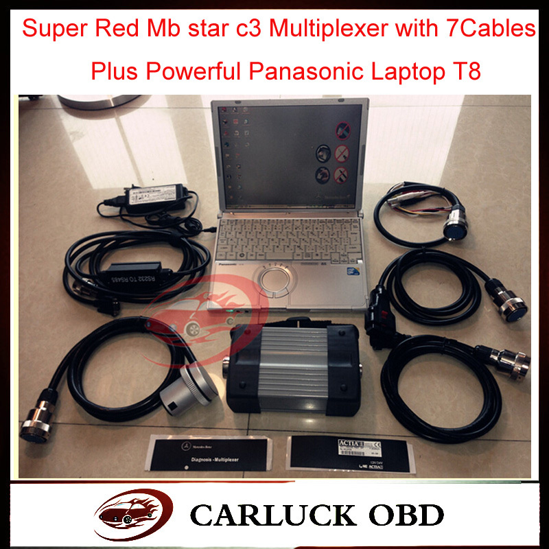 Best Quality super Mb star c3 Multiplexer with 7Cables Plus Powerful Panasonic Laptop Get free gift Xentry developer keygen(China (Mainland))