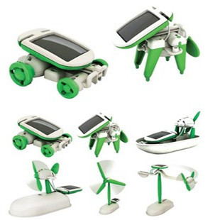 Six ecumenical diy solar toy assembling toy combination small toy puzzle