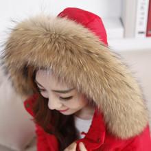Real Raccoon Fur Scarf Women 100% Natural Raccoon Fur Collar Winter Warm Fur Collar Scarves Design For Lady Long 70cm Width 13cm(China (Mainland))