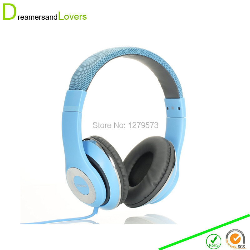 Dreamersandlover Stereo Folding Headphones Adjustable Headband Headset Kids Earphones or Adults Lightweight Headsets with Mic(China (Mainland))