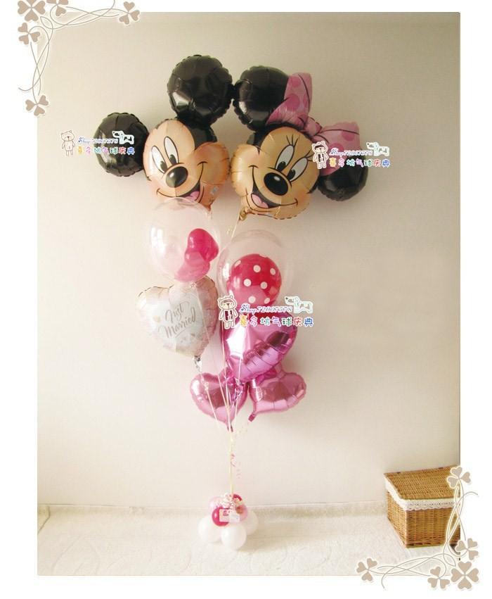 2 шт/много Минни мышь тема партии декоративных шаров. свадьба партии день рождения партии украшения фольги шары