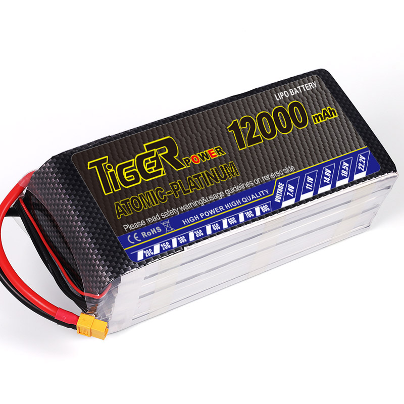 One piece Tiger Lipo rc lipo bateria 6s 12000mah 22.2V 25C lipo battery For Dji S900 S1000 RC helicopter quadcopter drones model(China (Mainland))