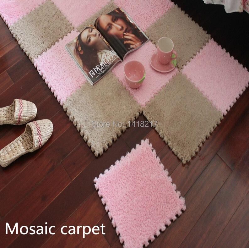 living room bedroom children kids soft patchwork carpet magic Jigsaw Splice cube slip-resistant puzzle climbing baby mat30*30CM(China (Mainland))