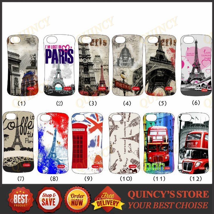 102 1 PC TPU Hybrid Wave Eiffel tower London Bridge city bus Armor Case cover Samsung Galaxy S3 4 5 i9600 note 2 3 - QUINCY ELECTRONICS ACCESSORIES store