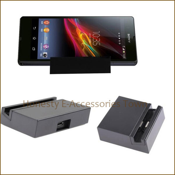 1 Pc/lot Magnetic Desktop Charger Charging Dock Docking Station For Sony Xperia Z3 L55T L55U Black Color