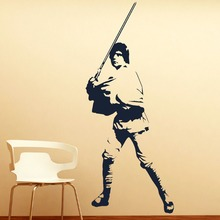 LARGE LUKE SKYWALKER STAR WARS > 6FT! WALL ART BEDROOM MURAL GIANT STICKER DECAL decorative wall stickers