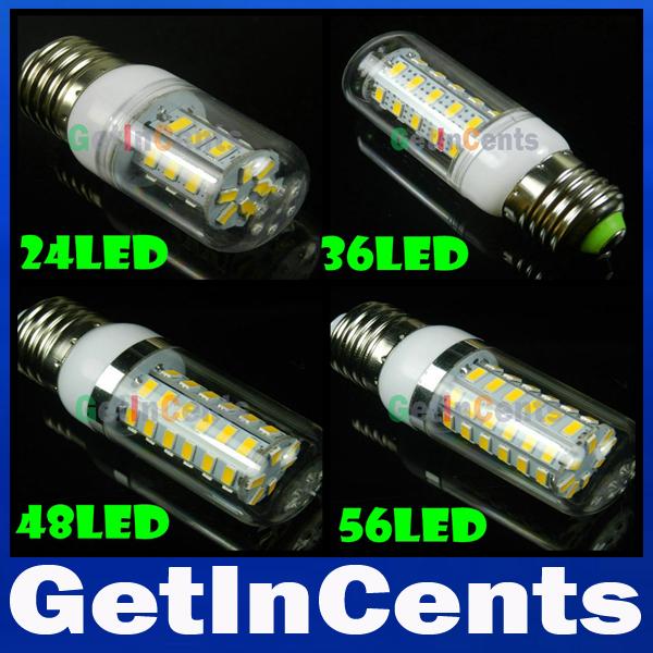 SMD 5730 3W 9W 12W 15W 20W 25W 30W E27 LED Corn Lamp 8LED 24LED 36LED 48LED 56LED 69LED 110LED Bulb Light 220V/110V Retail(China (Mainland))