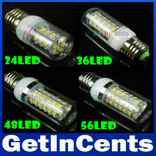 SMD 5730 3W 9W 12W 15W 20W 25W 30W E27 LED Corn Lamp 8LED 24LED 36LED 48LED 56LED 69LED 110LED Bulb Light 220V/110V Retail(China (Mainland))