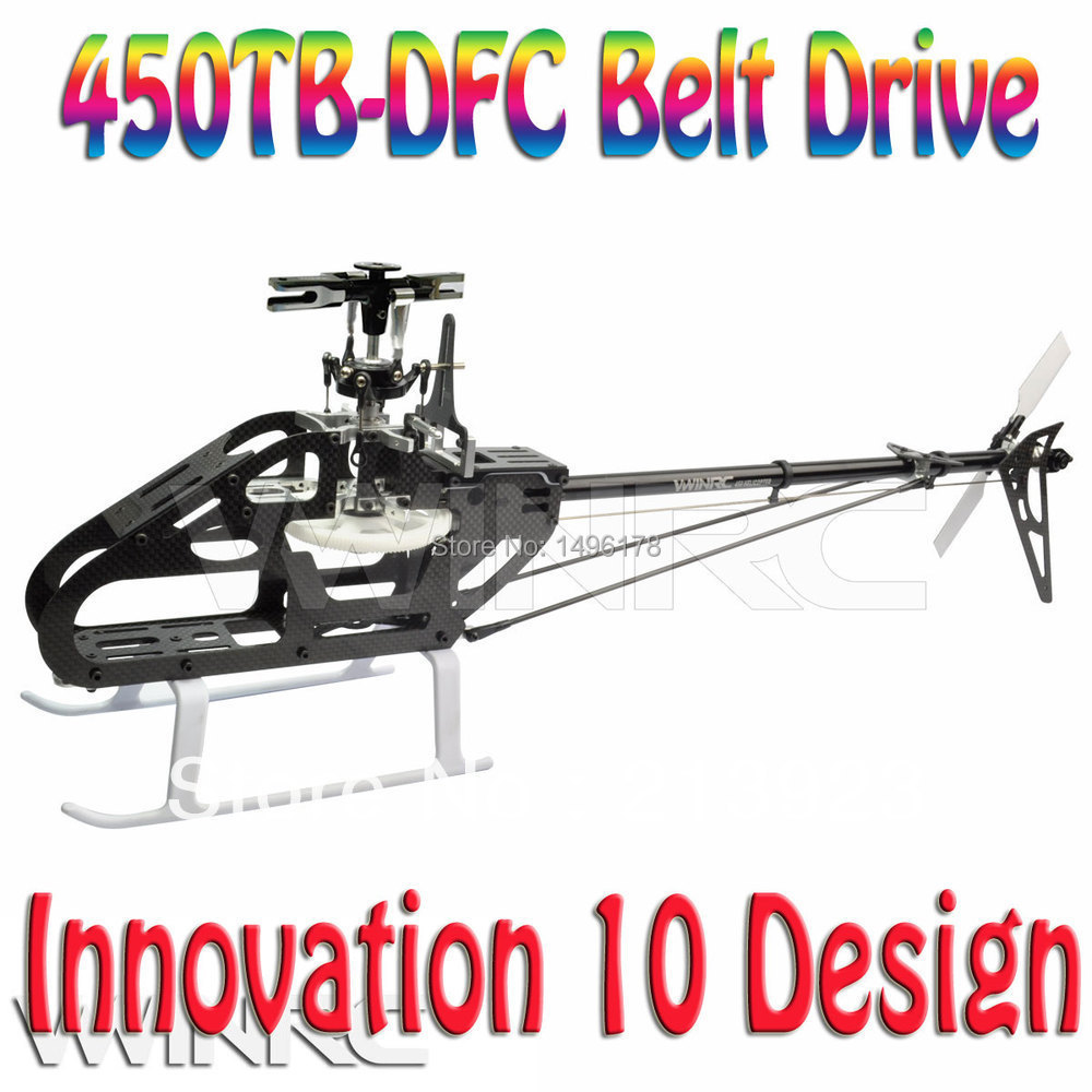 10 новый дизайн 450 ТБ УПД комплект Бесфлайбарной системы Ременного привода для align Т-Rex Pro с 2,4 ГГц 6-канальный RC вертолет