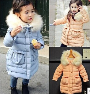 Girls Fur Collar down coat Wind Lamb Fur Coat Thick Large girl clothes girls Down Parkas Winter Suits For Girls Winter Jacket<br><br>Aliexpress