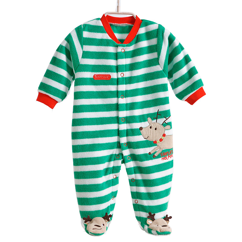 Newborn baby Romper fleece jumpsuit home dress baby girls clothes hello kitty coverall infants costumes toddler boys pajamas(China (Mainland))
