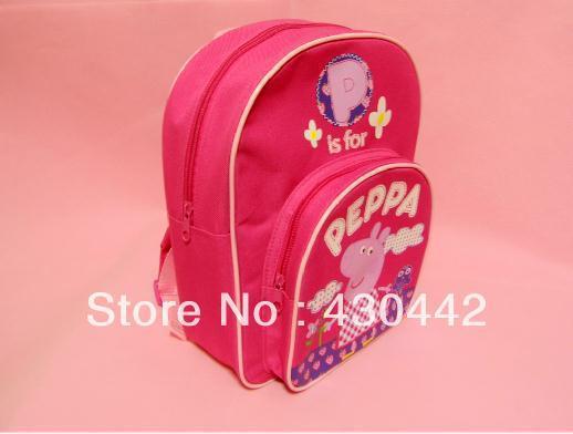 New arrival Kids Peppa Pig School Bags Children Backpacks Baby Bags For Children's Day Gift 30*25*9cm