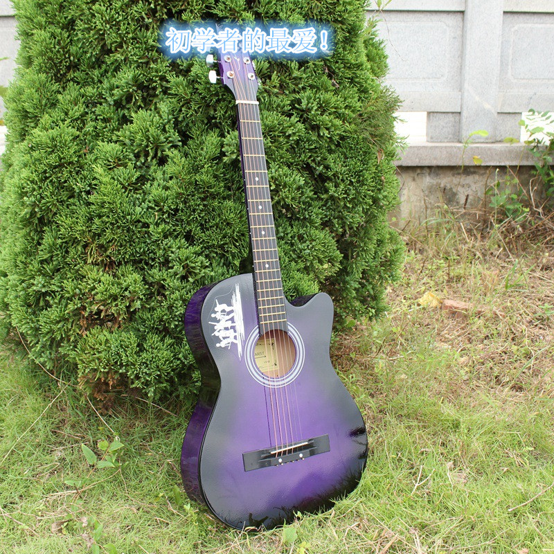 38 inches high quality acoustic guitar, a variety of colors to choose from, send gift! <br><br>Aliexpress
