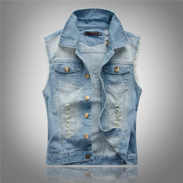 High Quality Vest Denim Men-Buy Cheap Vest Denim Men lots from ...