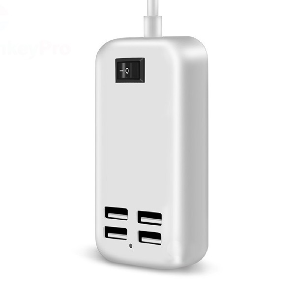 Eu Plug 4 Ports Multiple Wall Usb Charger 15W 3A Smart Adapter Mobile Phone Charging Data Device For Iphone Ipad(China (Mainland))