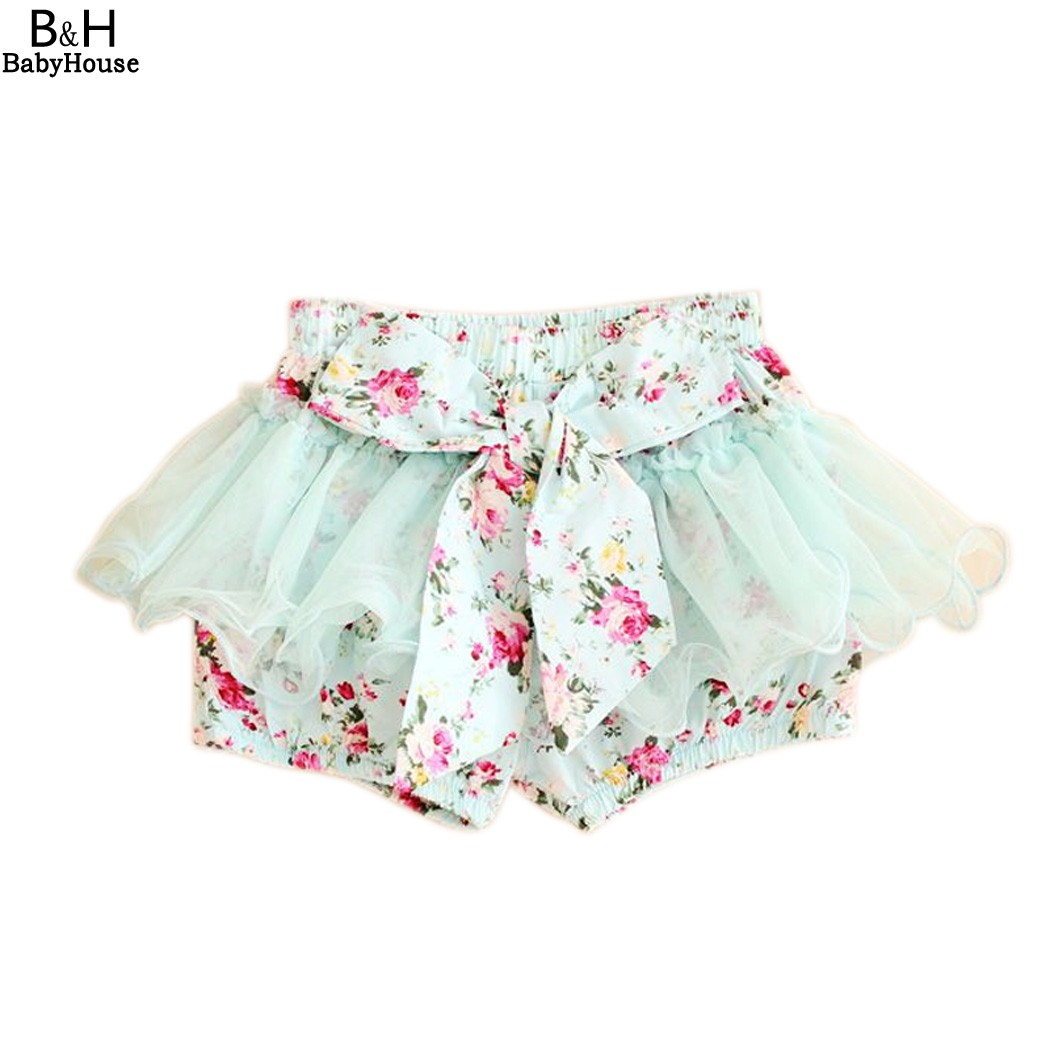 Girls Floral Pattern Short Skirt summer Trousers Girls lace shorts Summer Kids Clothing 4Y-10Y Free shipping 66<br><br>Aliexpress