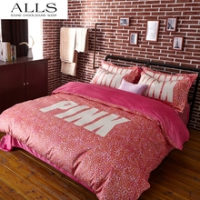 Pink VS Secret Winter Bedding set velvet bed linen bed sheet set luxury wedding bedding set designer bedding duvet cover queen(China (Mainland))
