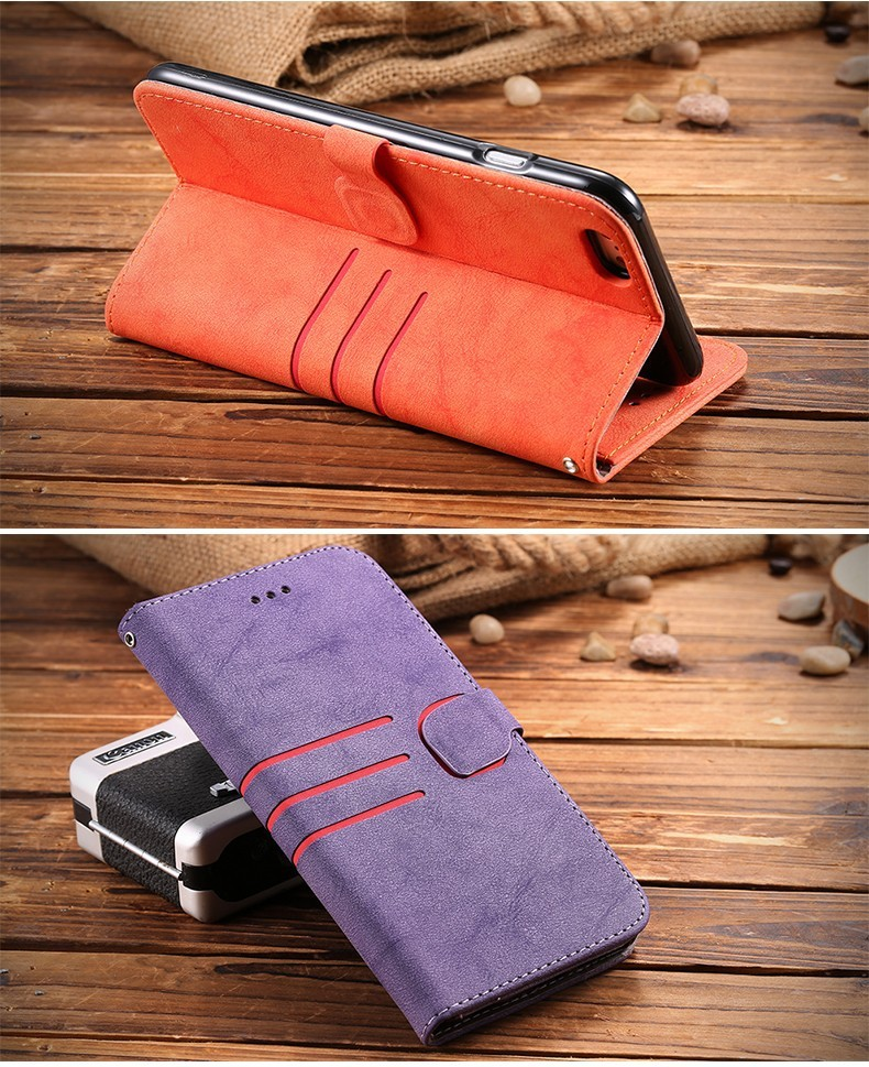 Fashion Man Women Matte Leather Magnetic Flip Case For iPhone 6 6S plus 5.5inch Stand Wallet With Photo Frame Phone Cover cases