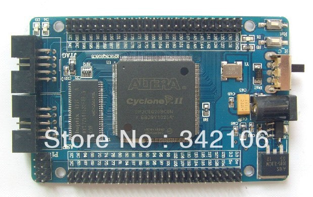 Free Shipping!!! ALTERA EP2C8Q208 FPGA Nios II development board learning board minimum system(China (Mainland))