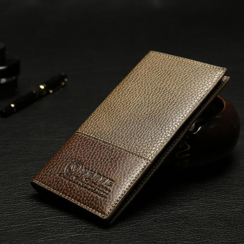 100% top quality genuine leather men wallets fashion Ostrich purse card holder coin bag carteira masculina wholesale price(China (Mainland))