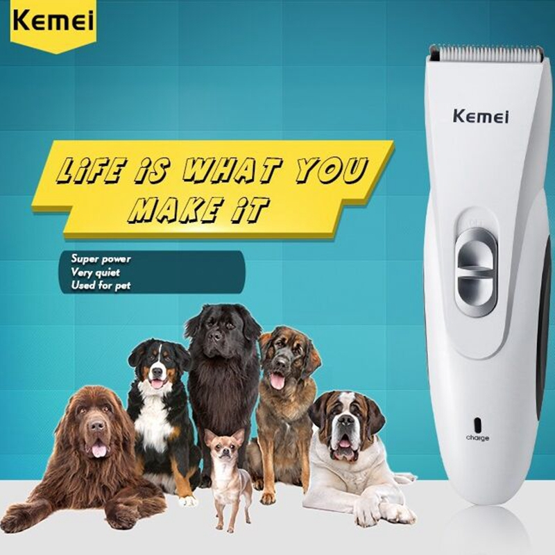 2015 Kemei Electric Professional Pet's Hair Clipper Trimmer Rechargeable dog hair Razor Hair Scissors Salon Clipper shaving tool(China (Mainland))