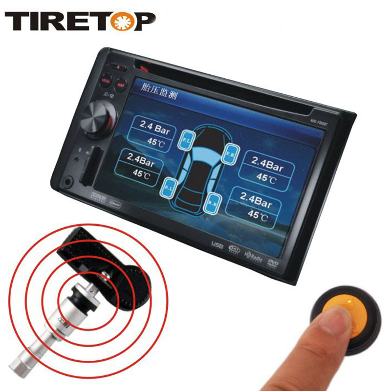 Brand TIRE TOP tire pressure monitor system TPMS DVD type special use wireless tyres pressure temperature gauge compatibility <br><br>Aliexpress