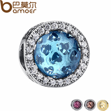 Buy 925 Sterling Silver Radiant Hearts, Sky-Blue Crystal & Clear CZ Charm Fit Bracelet & Necklace Jewelry Accessories PAS205 for $8.66 in AliExpress store
