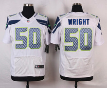 Seattle Seahawks #25 Richard Sherman Elite White and Steel Blue Team Color free shipping(China (Mainland))