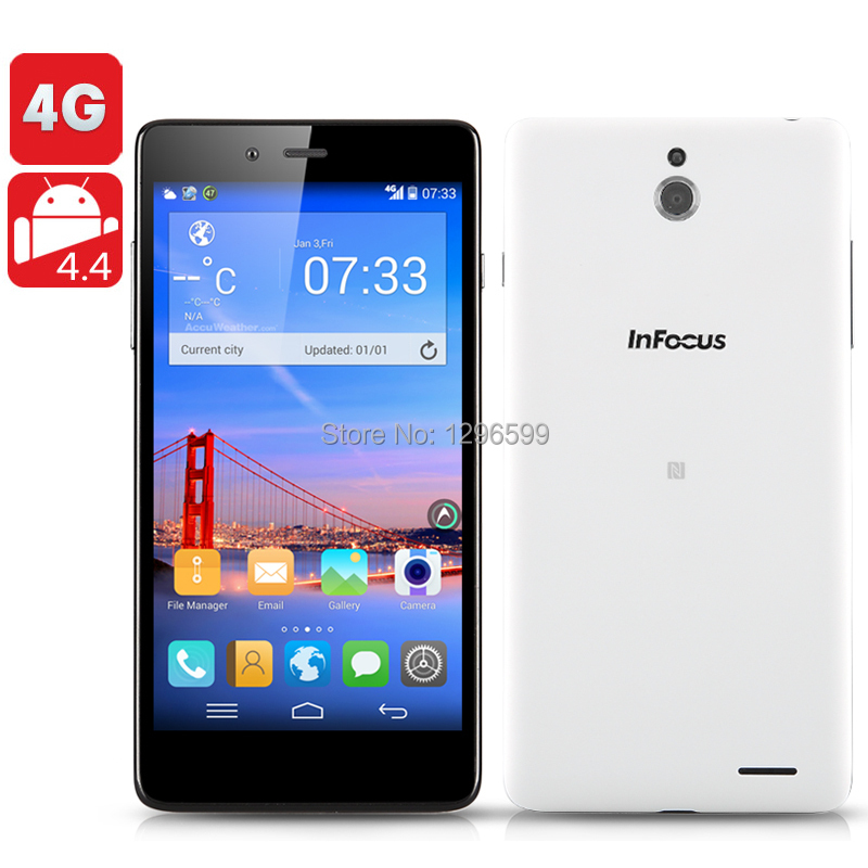 Original InFocus M512 Smartphone - 5 Inch IPS 1280x720 Screen, Android 4.4 Operating System, 4G, Quad Core 1.2GHz CPU, NFC, OTG(China (Mainland))