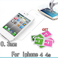 Protective glass on the for iPhone 4 glass for iPhone4 4s 0 3mm film on for