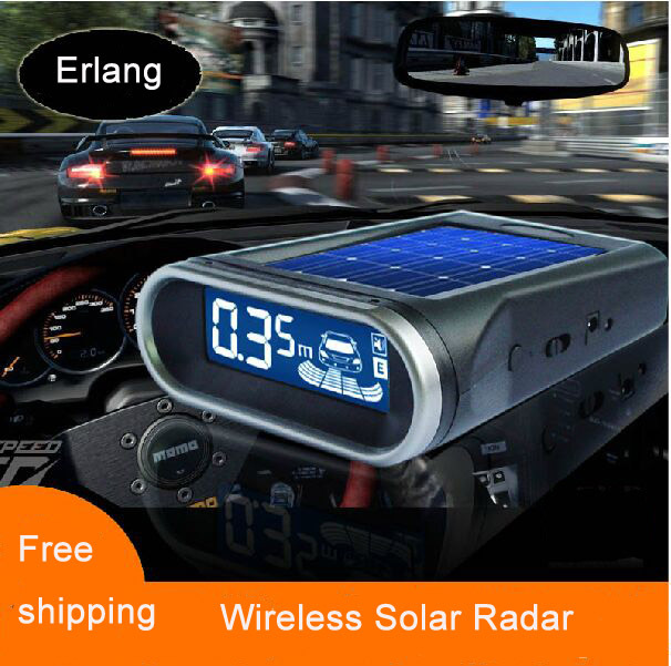 NY309 car detector solar reversing radar wireless reversing radar convenient parking assist sensor de estacionamento parking(China (Mainland))