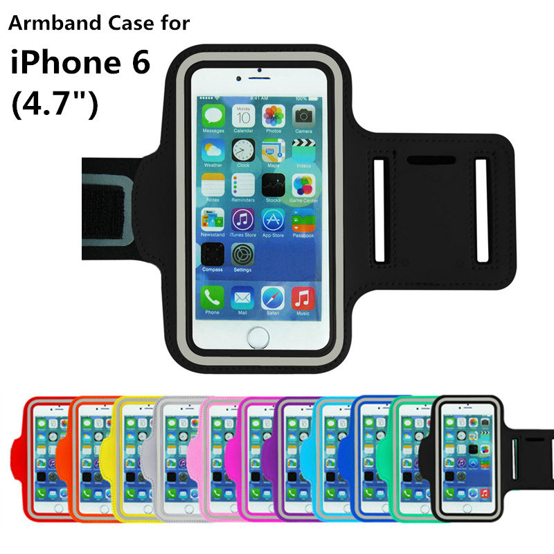 2016 New Sports Running Armband For iPhone 6 case Workout Armband Pounch For Apple iPhone 6 4.7 Mobile Phone brazalete deportivo