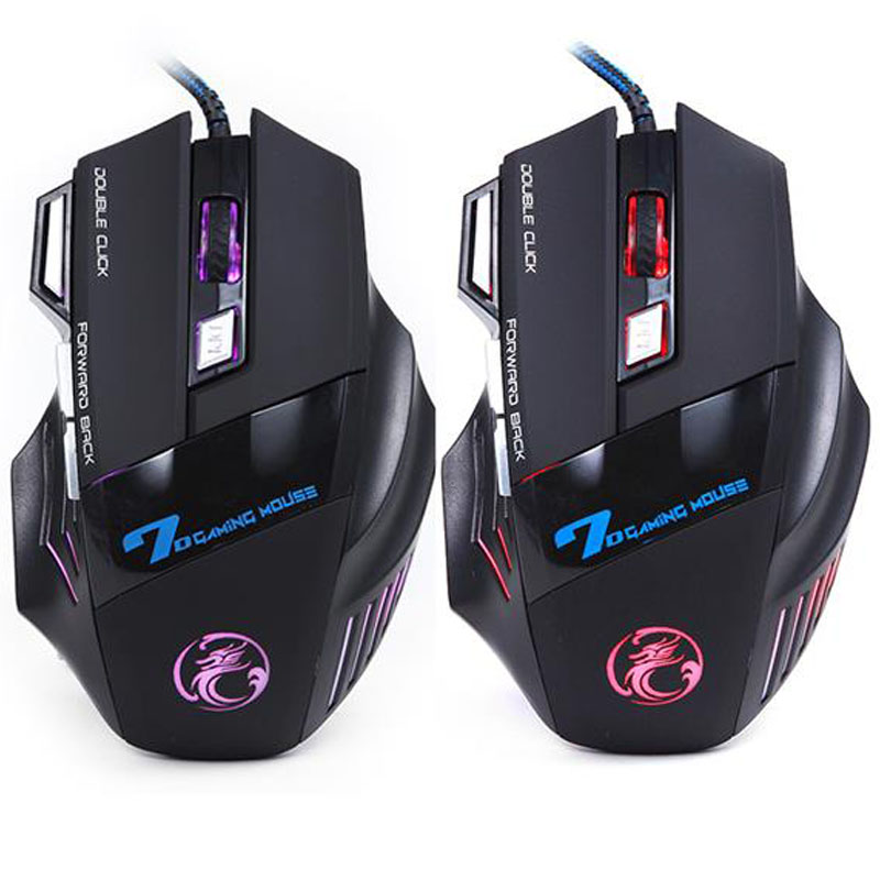 Best sale 7 Buttons 5500 DPI Super Led Optical Professional USB Wired Gaming Mouse High Quality Computer Cable Game Mice(China (Mainland))