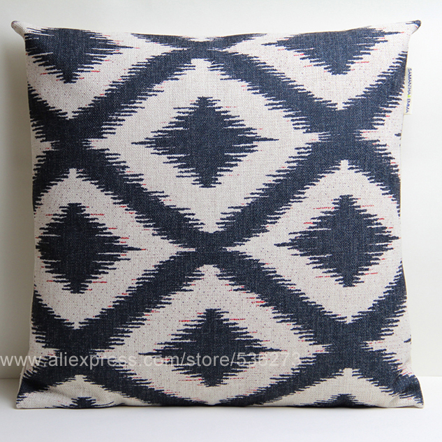 Ikat Retro Decorative Throw Pillows Case Home Decor Vintage Geometric Cushions Cover Cojines Coussin Covers For