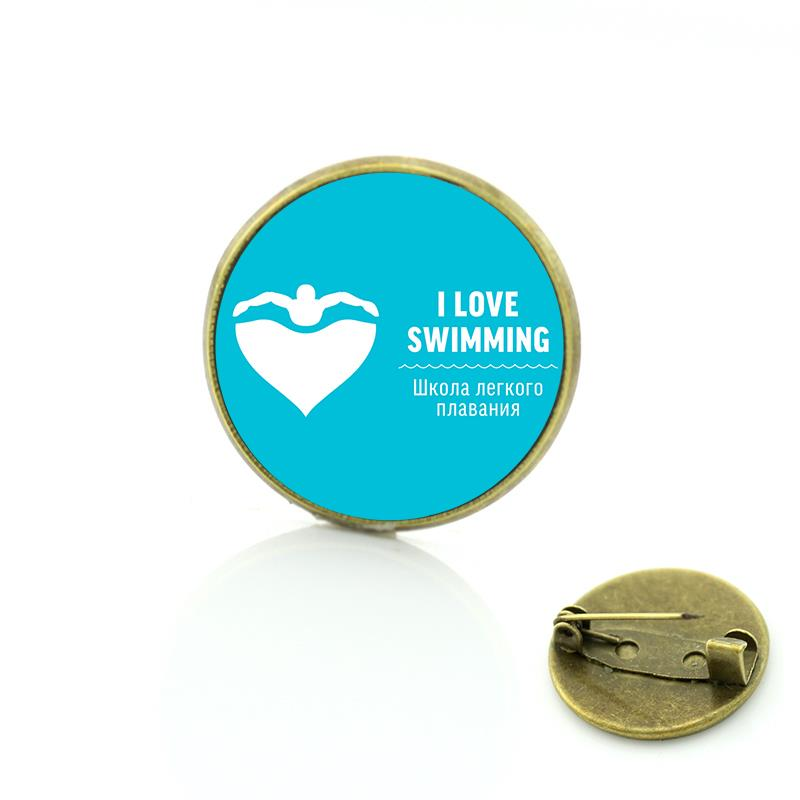 d72d921c8fdd New sales summer style Keep Calm and Love Swimming brooch ocean see blue  charms casual sports lover women men badge pin SP388 - us117