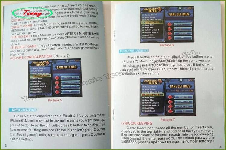 Pandora's Box 3 multi game board with 520 games in 1,VGA&CGA output Jamma arcade pandora box for arcade game Machine