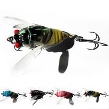 2016 Random Color New Promotions 1 Pcs 4-Color Cicada Baits Fishing Lures Bass Crank baits 4cm 6.4g Float Baits High Quality