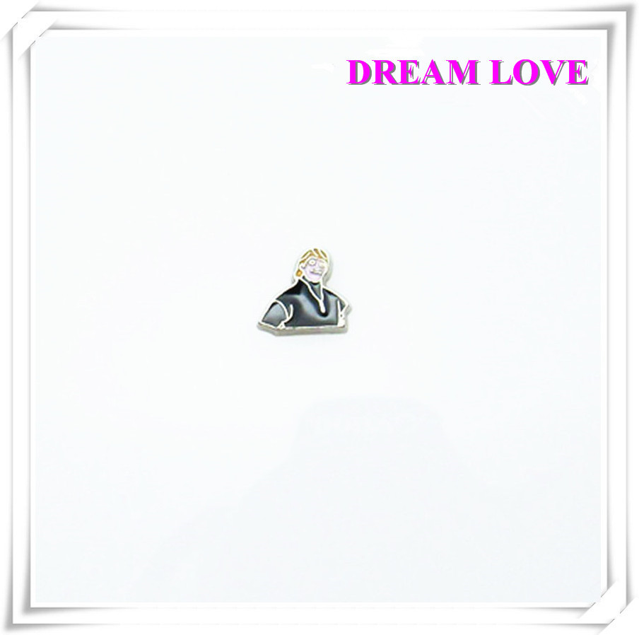 20pcs elsa and anni black alloy floating charms For DIY Glass Floating Locket Accessories(China (Mainland))