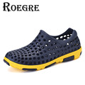 ROEGRE Summer Beach Men s Sandals Breathable Comfortable Clog Shoes Casual Outdoor Slippers Shoes Grey White