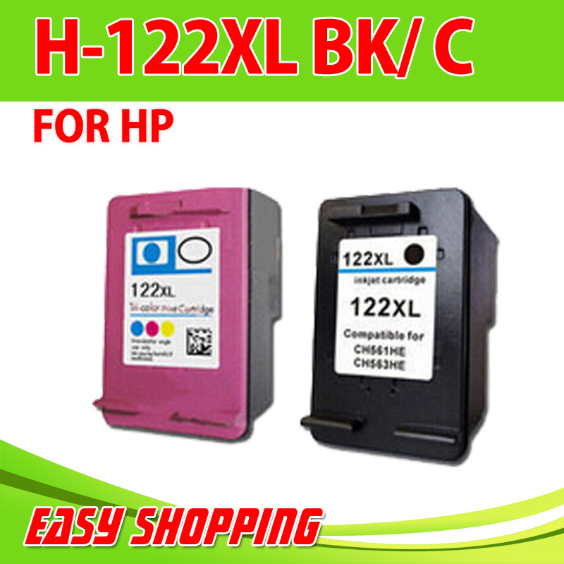 Гаджет  2PK for HP Ink  ,Remam Ink Cartridge for HP122 XL CH563HE with full ink with chip for HP DesjetF2560, F2568, F4280, 4288 None Офисные и Школьные принадлежности